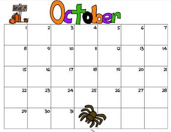 Month Headers Clip Art