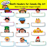 Month Headers for Canada Clip Art