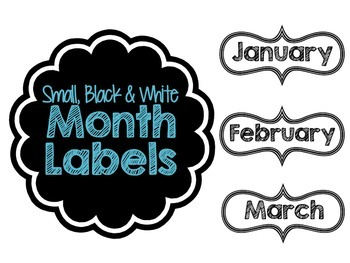 Month Label Printables
