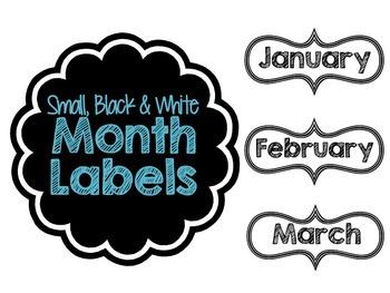 Month Label Printables