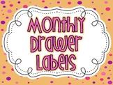Month Labels For 3 Drawer Cart {Polka Dot}