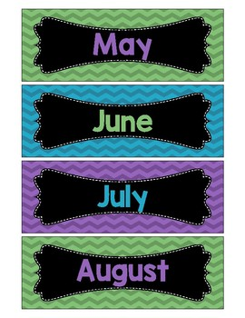 Month Labels/Signs