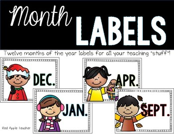 Month Labels for Classroom Organization