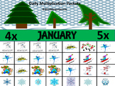 Daily Multiplication Packets January Bundle 4x, 5x