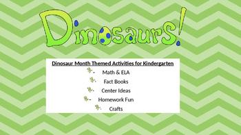 Month Long Dinosaur Activities