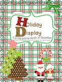 Month Long Holiday Wall Display Posters for December