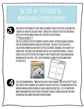 Month-Long Literacy Centers: Arctic Animals