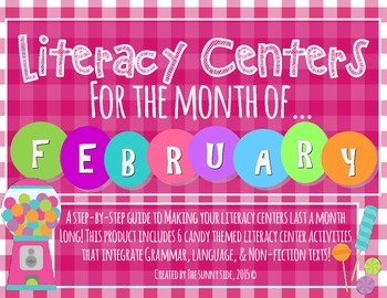 Month-Long Literacy Centers: Candy Craze!