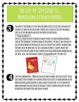 Month-Long Literacy Centers: Colorific!