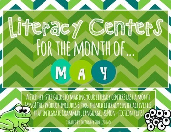 Month-Long Literacy Centers: Frog Frenzy!