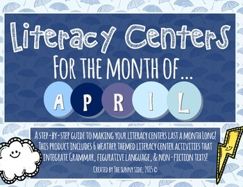 Month-Long Literacy Centers: Weather Wonder!