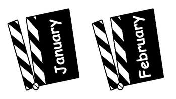 Month Movie Clappers