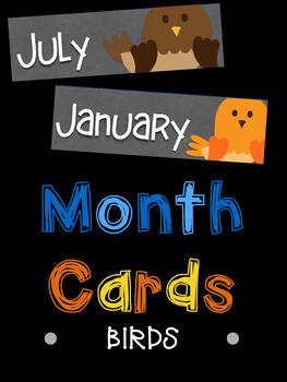Month Name Cards: Birds
