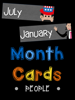 Month Name Cards: People