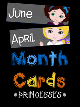 Month Name Cards: Princesses