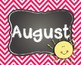 Month Poster Signs for Calendars and Birthdays-Chevron/Cha