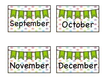 Month & Season Labels-Center Storage Labels