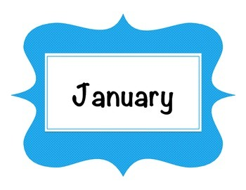 Month Signs