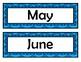 Month Signs - Blue Chevron