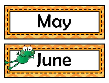 Month Signs - Frog Theme
