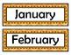 Month Signs - Orange Chevron
