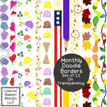 Stationery Clip Art Bundle PDF PNG JPG Seasonal Holiday Co