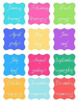 Month Tabs