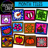 Month Tile Icons {Creative Clips Digital Clipart}