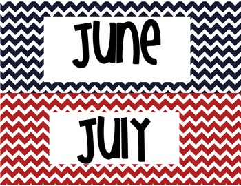 Month Title for Calendar