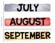 Month Watercolor Labels