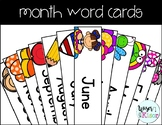 Month Word Cards