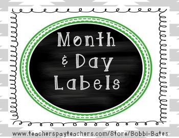 Month and Day Labels
