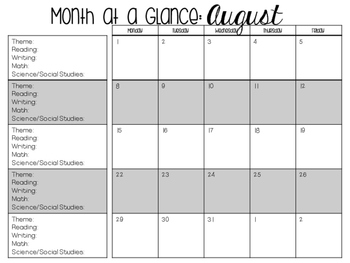 Month at a Glance Planner