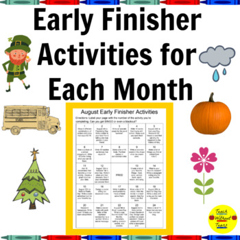 Month-by-Month Early Finisher Activities