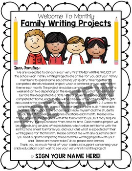 Month-by-Month Family (or in class) Writing Projects for All Year!