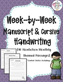 Month by Month Handwriting Passages