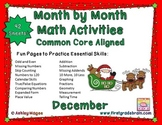 Month by Month Math Activities - Common Core Aligned - December