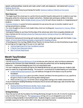 Month-by-Month Scope & Sequence for Reading, Writing, and Word Study