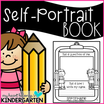 Self Portrait and Name Writing Books  (Back to School Ideas)