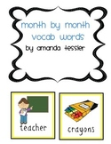 Month by Month Vocabulary Words