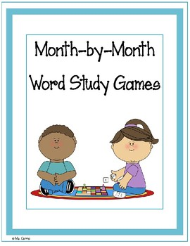 Month-by-Month Word Study Games