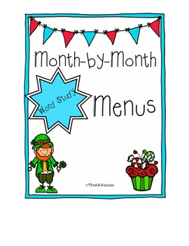 Month by Month Word Study Menus