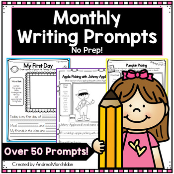 Month by Month Writing Prompts for the Year