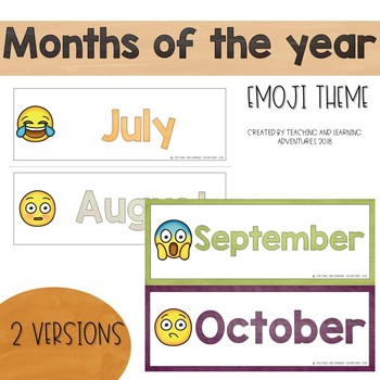 Months of the year- emoji theme