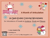 Month of Articulation February: 28 Open-Ended Coloring Wor