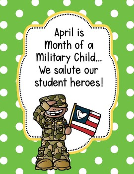 Month of the Military Child Poster {Freebie}