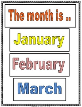 Month of the Year Poster