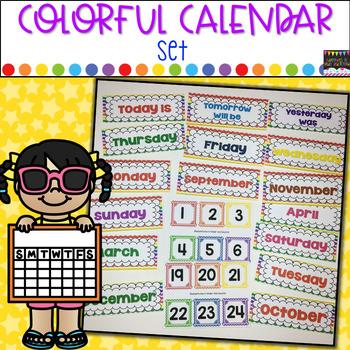 Calendar Set- Colorful Colors