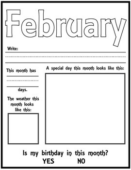 Month to Month ALL ABOUT each month page