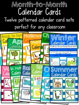 Month-to-Month Calendar Cards {BUNDLE}